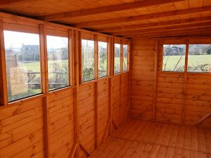 Internal View of a Power Pent 16x6 Shed - Denton