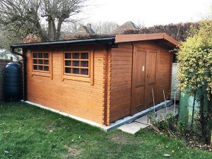 Log Cabin Shed Installation in Crawley West Sussex - Britton