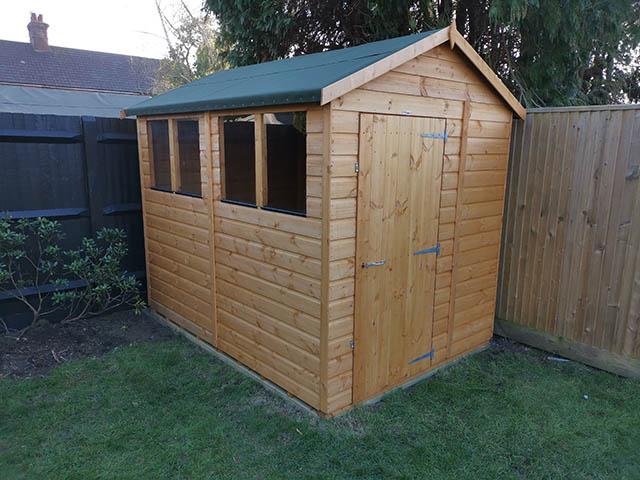 Powershed Apex Shed 8x6 Installation in Horsham - Wiles