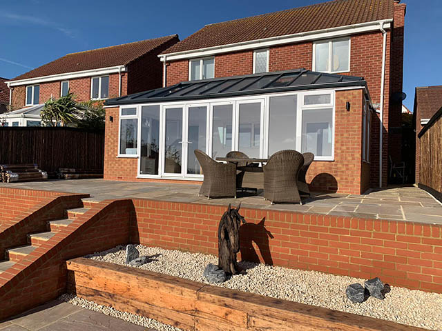7 x 3.5M Solid Roof Conservatory Style Extension in Newhaven East Sussex - Shephard