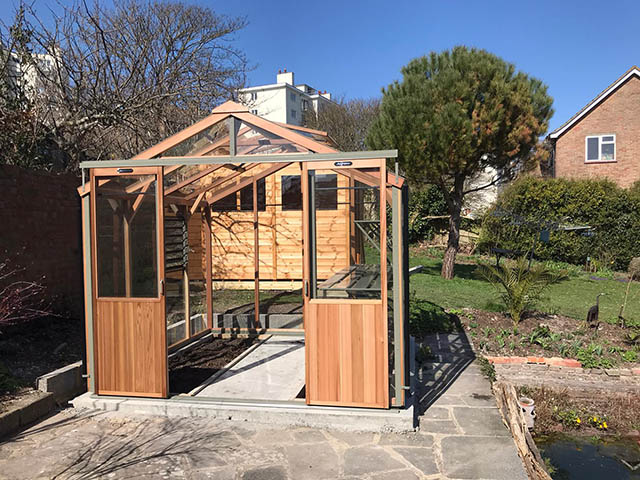 Alton Eight Greenhouse and Powershed 8x6 - Gardiner