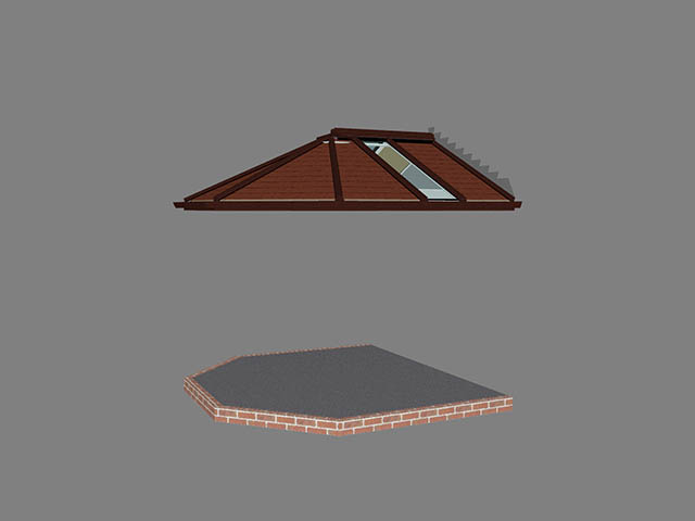 Conservatory Roof Replacement CAD Design - Jackson