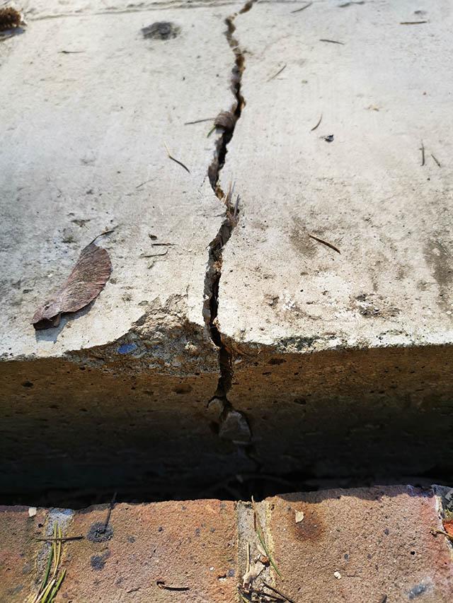 Cracked Base Before Skim - Perry