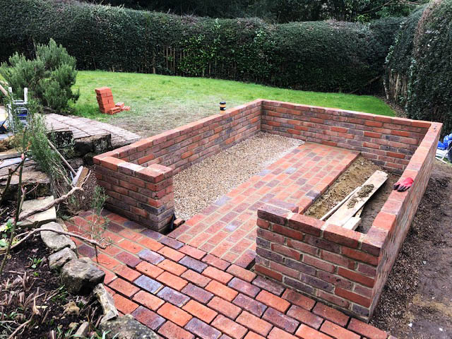 Dwarf Wall Base for a Robinsons Victorian Greenhouse Installation in Forest Row - Emslie