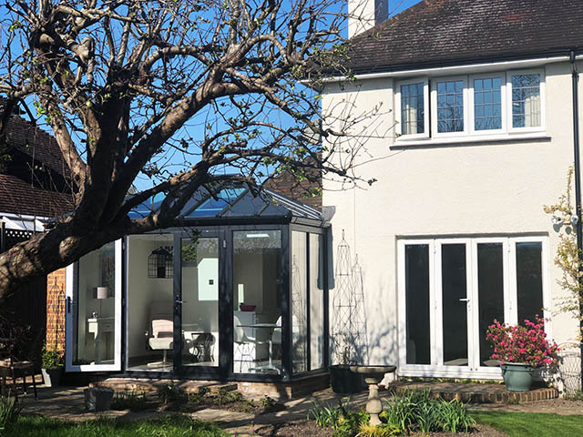 LivinRoof Conservatory Style Solid Roof Extension in Steyning - Coleman