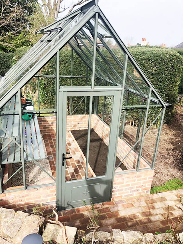 Robinsons Victorian Greenhouse Installation in Forest Row - Emslie