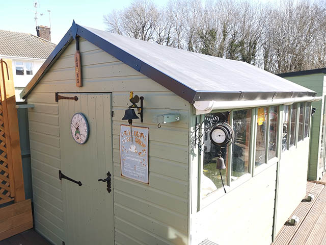 Rubber Roof Shed Roof Replacement in Crawley West Sussex - Friday
