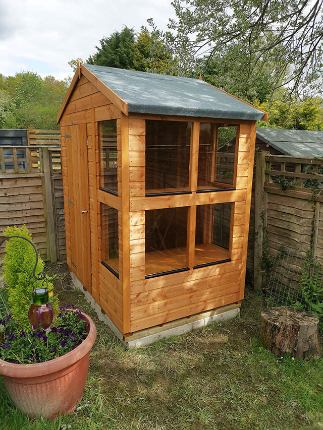 4ft x 6ft Power Potting Shed Apex - Simpson