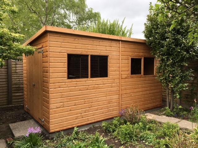 8ft x 14ft Albany Major Pent Shed Installation in Horsham West Sussex - Elston