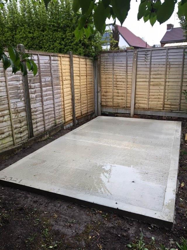8ft x 14ft Concrete Base in Horsham - Elston