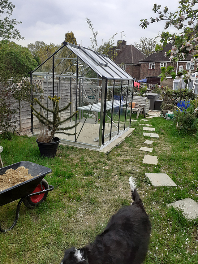 Eden Burford Greenhouse Installation in Crawley West Sussex - Brigham