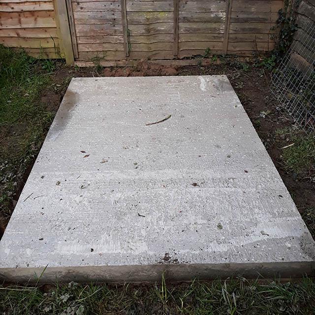 Potting Shed Concrete Base - Simpson