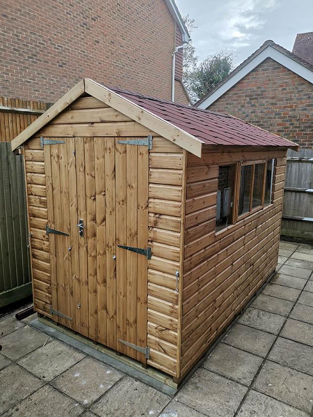 Regency Cawthorne 10x6 Shed Installed in Horsham - Taylor-Keane