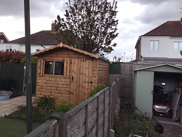 Regency Lugano 8x8 Shed Installation in Lancing West Sussex - Hughes