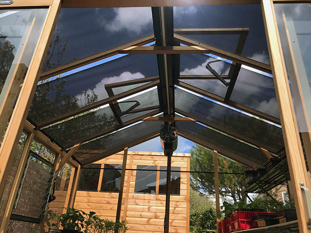 Roof Blinds Installed on to a Alton Eight Greenhouse - Gardiner (4)