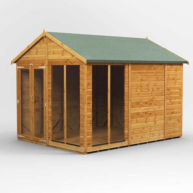 10x8 Summerhouse Apex Door Gable