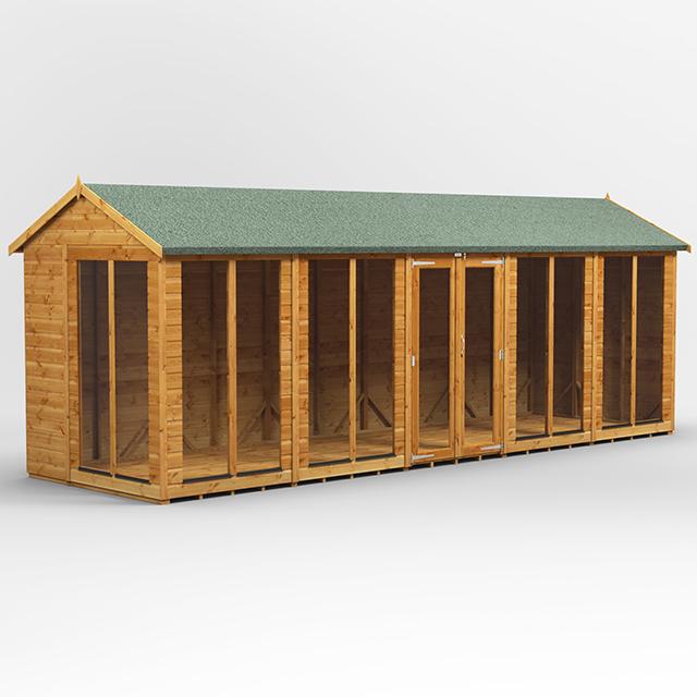 20x6 Summerhouse Apex Doors Centre
