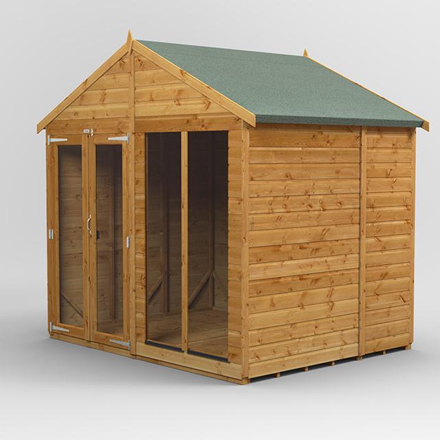 6x8 Summerhouse Apex Door Gable