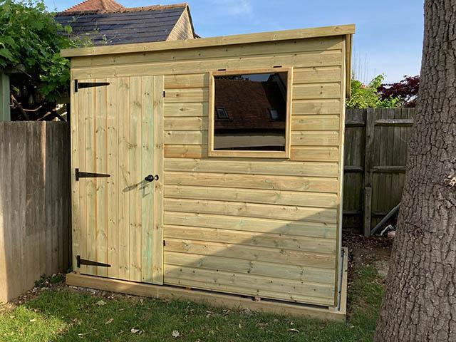 Malvern Bewdley Pent 8x6 Storage Shed Installation in Billingshurst - Prior