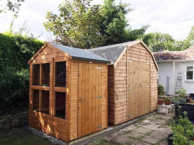Regency Barn and Power Potting Shed Installation in Alford Surrey - Mole