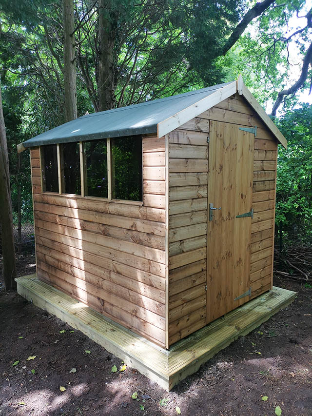 Regency Royston Apex Shed 8x6 Installation in Horsham West Sussex - Sanders