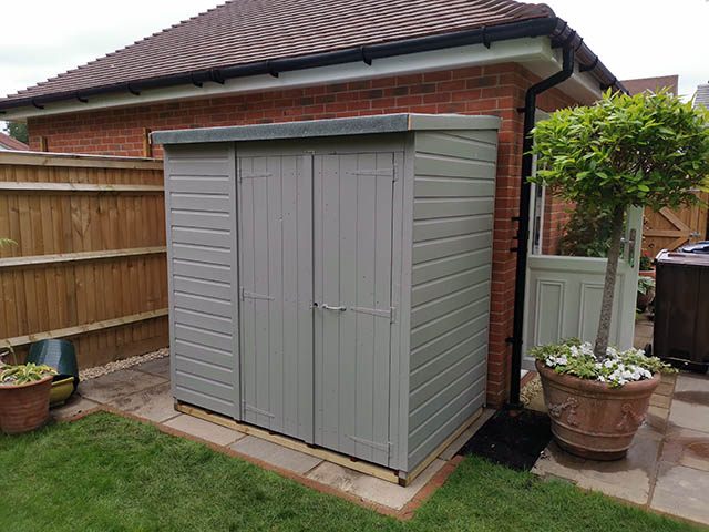 6x4 Power Pent Windowless Storage Shed with Double Doors - Thompson