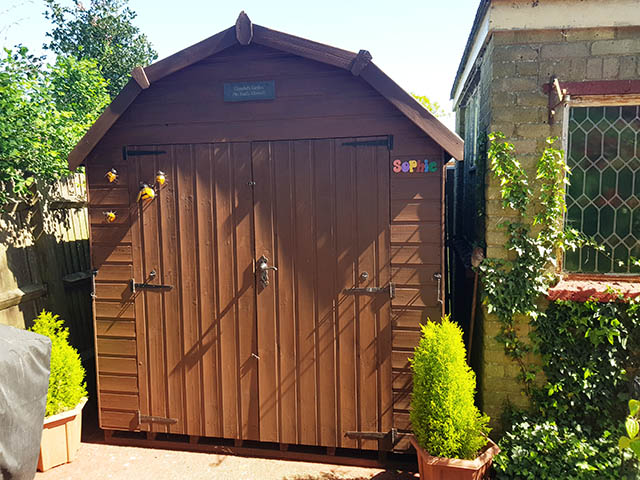 8x8 Regency Barn Style Shed Installation in Horsham West Sussex - McGonnell