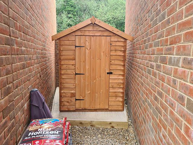 Albany Cottage 7x5 Storage Shed Installation in Woking Surrey - Akash