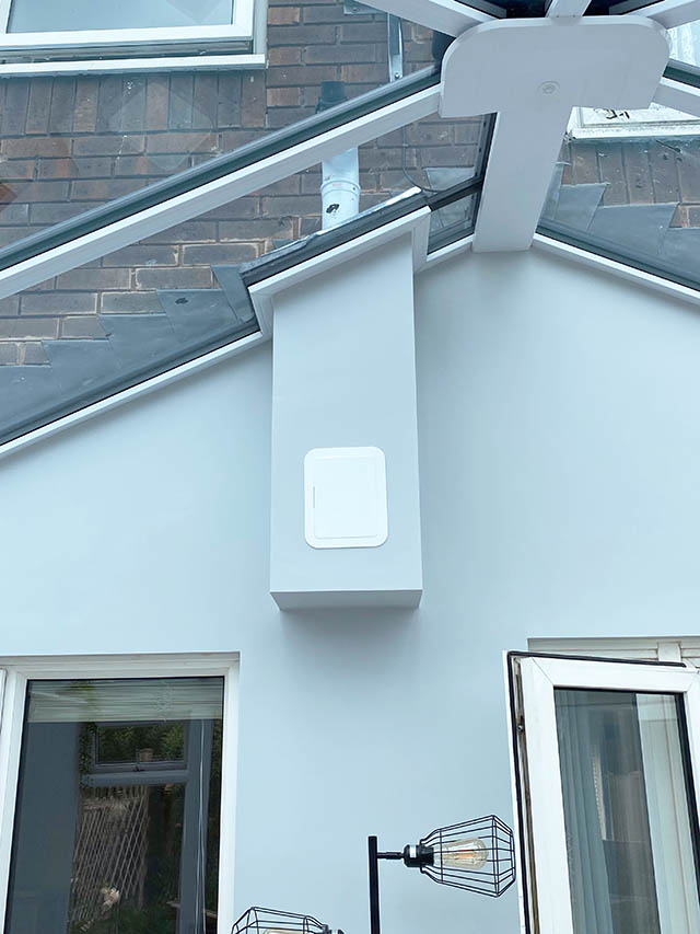 Completed Flue Through Conservatory Roof - Bates