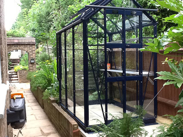Elite Maxim Greenhouse Installation in East Grinstead - Caine