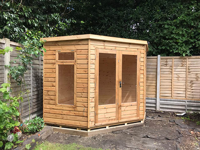 Lined and Insulated Summerhouse Installation in Horsham West Sussex - Hutchinson