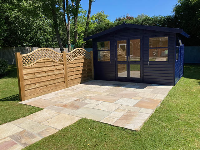 Malvern Arley Apex Summerhouse Installation in Cowfold West Sussex - Martin