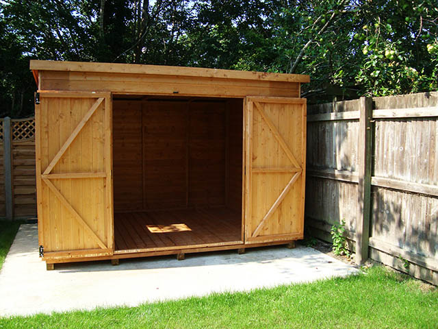 Albany Suffolk 10x8 Pent Shed Installation in Horsham West Sussex - Spear