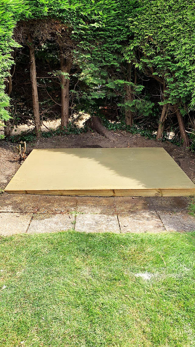 Concrete Base Construction for New Garden Shed Installation in Ringmer - Hadley