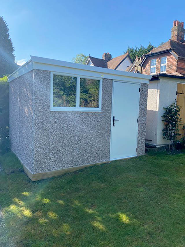 Deluxe Pent Concrete Shed - Harrow