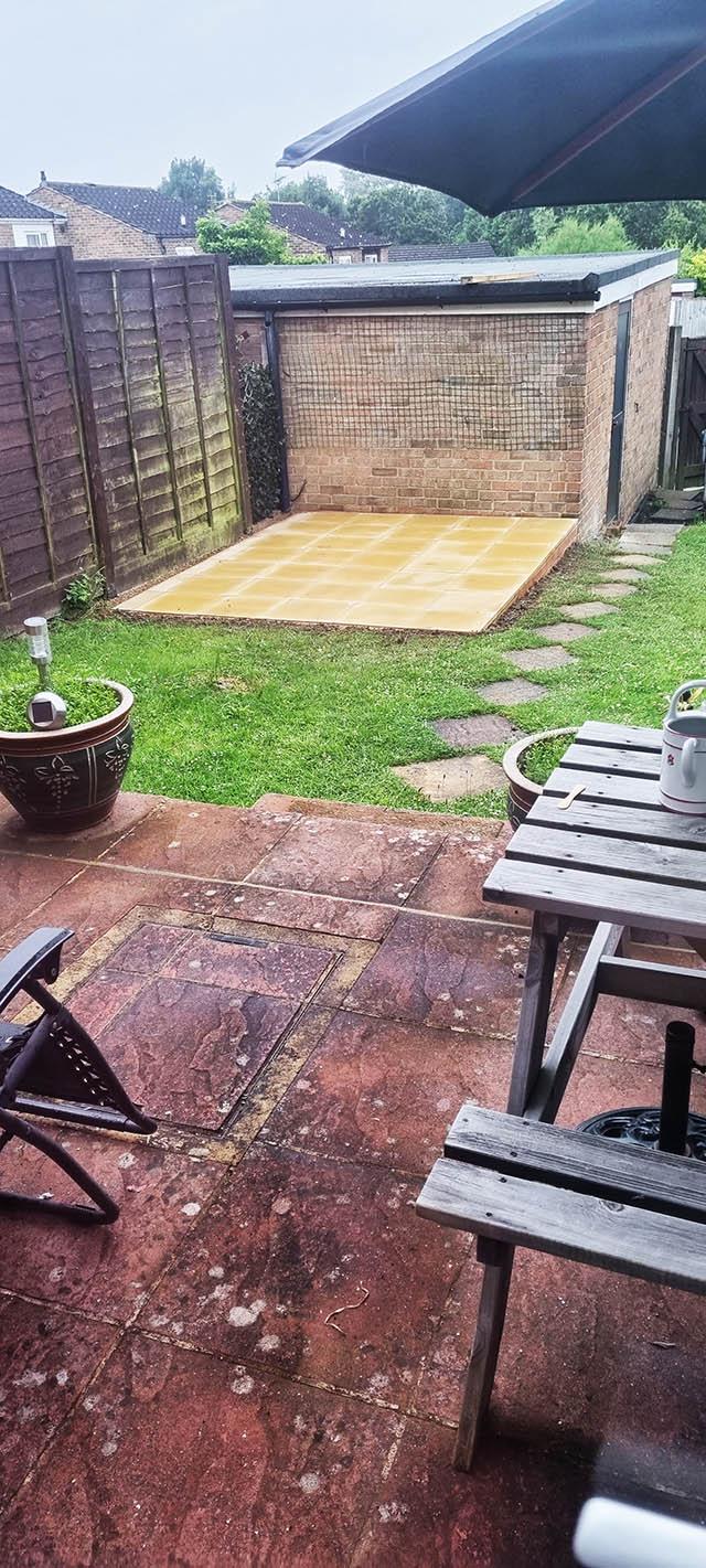 Paved Slab Base for Potting Shed Installation - Wornham