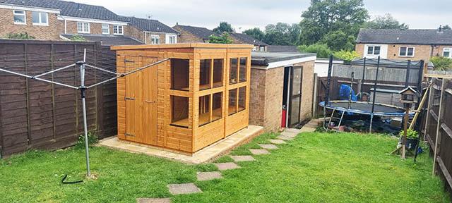 Power Potting Shed 8x6 Installation in Crawley West Sussex - Wornham