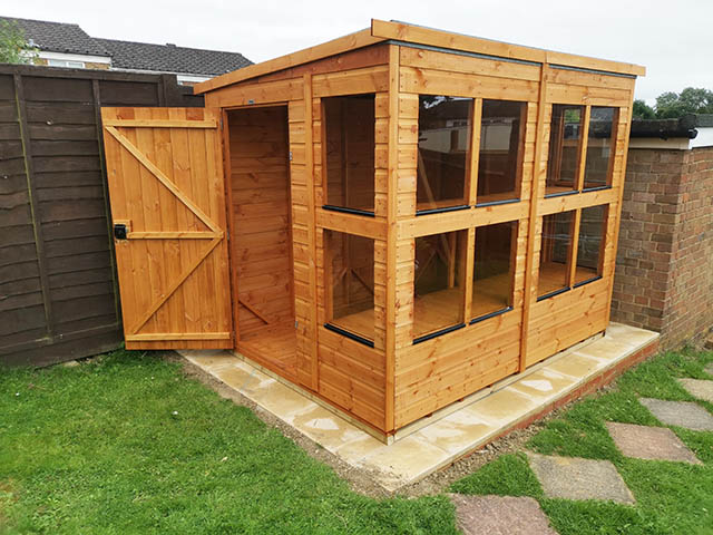 Power Shed Potting Shed Installation in Crawley West Sussex - Wornham
