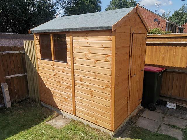 Powershed Apex 7x5 Garden Storage Shed Installation in Crawley West Sussex - Ballard