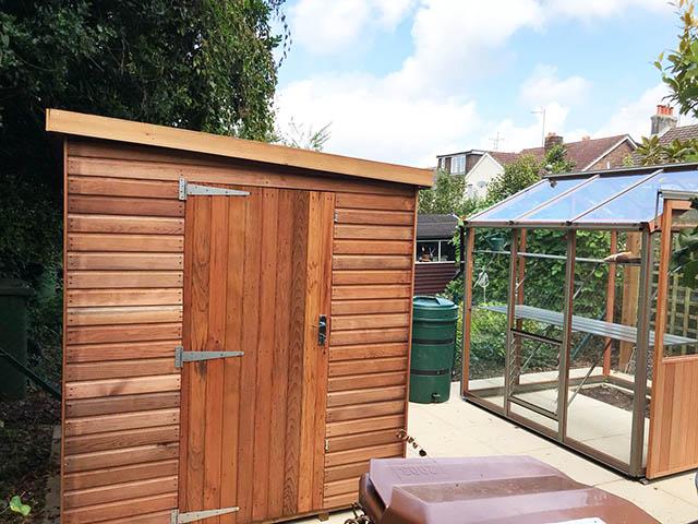 Regency Notton 6x6 Cedar Shed Installation in Horsham West Sussex - McCurrach
