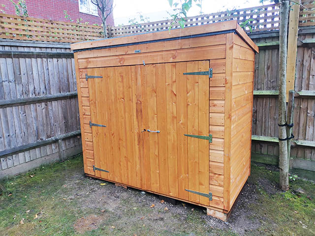 6ft x 3ft Pent Bike Storage Shed Supplied and Installed in Billingshurst West Sussex