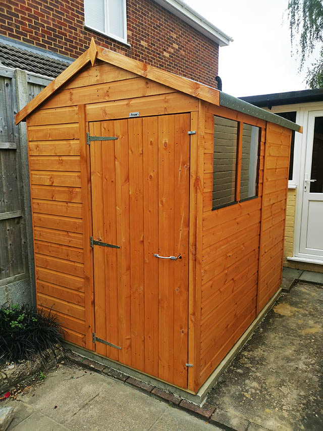 7x5 Powershed Apex Storage Shed Installed in Rudgwick - Morley