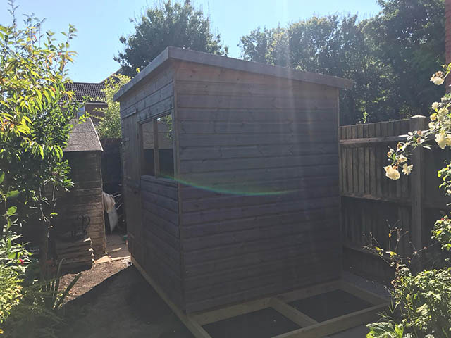 Albany Major Pent Shed 8x6 Installation in Horsham - Livermore