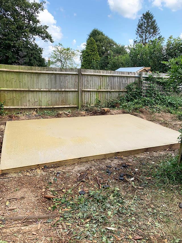 Concrete Base for Workshop Shed - Oelmann