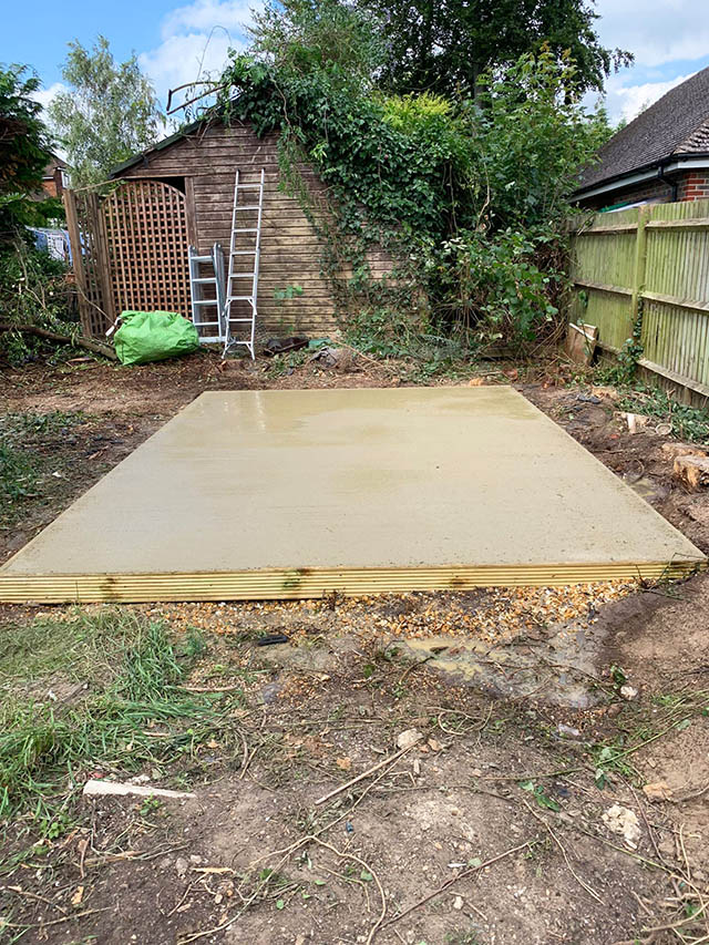Large Concrete Base for Shed - Oelmann