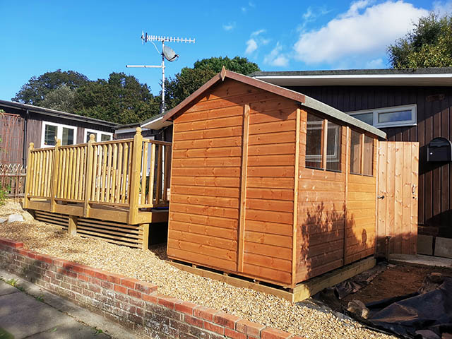 Powershed Apex Shed 8ft x 6ft Storage Shed Installed in St Leonards on Sea - Noda