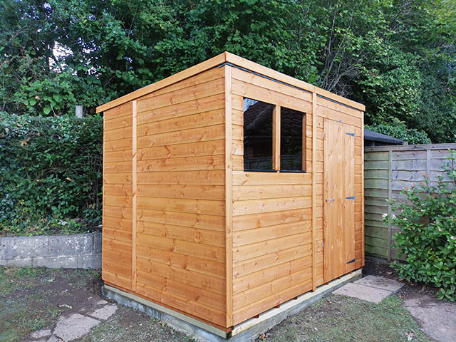 Powershed Pent 8ft x 6ft Storage Shed Installation in Haywards Heath West Sussex - Smith