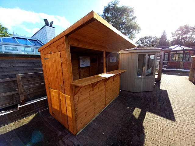 Powersheds Pub Shed At Our Showcentre in Horsham West Sussex