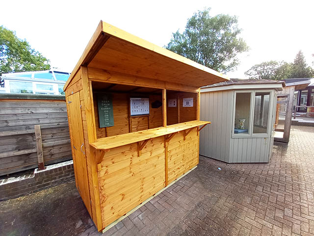 Powersheds Pub Shed On Display At Our Showcentre in Horsham