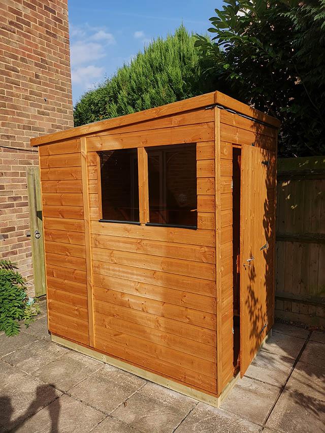 Small Garden Storage Shed Installation in Haywards Heath West Sussex - Goldsmith